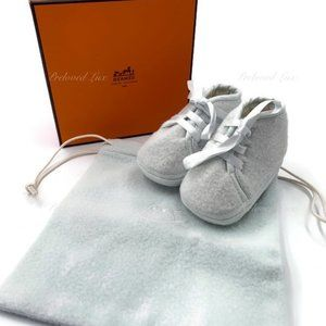 Authentic Hermes Newborn Baby First Shoes blue